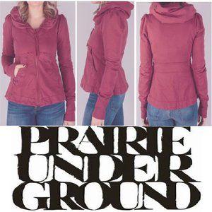 Prairie Underground Short Cloak Hoodie Size XS